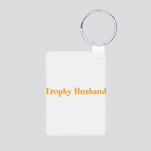 Trophy Husband Valentine Aluminum Photo Keychain