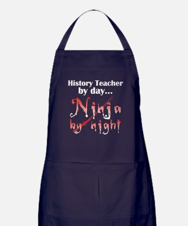 History Teacher Ninja Apron (dark)