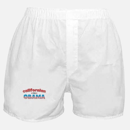 Californian For Obama Boxer Shorts