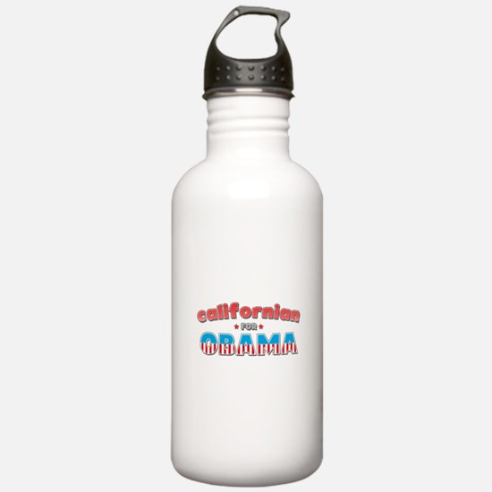 Californian For Obama Water Bottle