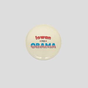 Iowan For Obama Mini Button