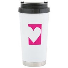 Heart Stainless Steel Travel Mug