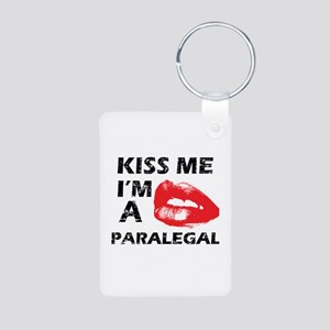 Kiss me I'm a Paralegal Aluminum Photo Keychain