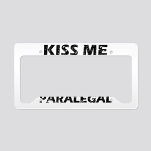Kiss me I'm a Paralegal License Plate Holder