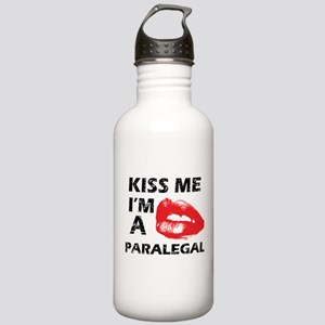 Kiss me I'm a Paralegal Stainless Water Bottle 1.0