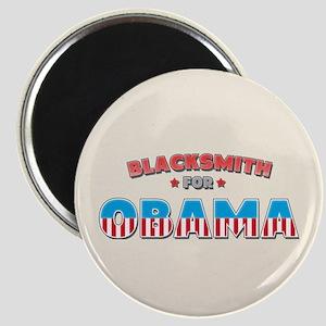 Blacksmith For Obama Magnet