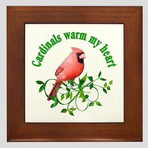Cardinals Warm My Heart Framed Tile