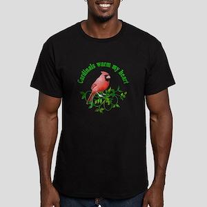 Cardinals Warm My Heart Men's Fitted T-Shirt (dark