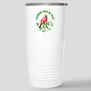 Cardinals Warm My Heart Stainless Steel Travel Mug