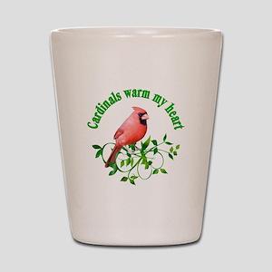 Cardinals Warm My Heart Shot Glass