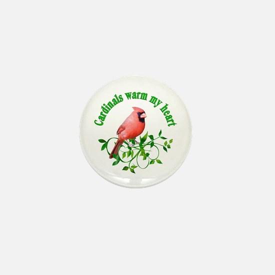 Cardinals Warm My Heart Mini Button