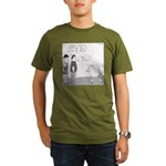 Crocodile Dun F (No Text) Organic Men's T-Shirt (d