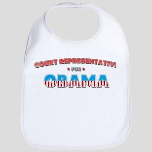 Court Representative For Obam Bib