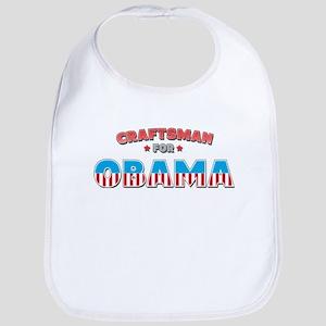 Craftsman For Obama Bib