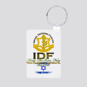 IDF Aluminum Photo Keychain