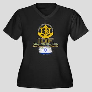 IDF Women's Plus Size V-Neck Dark T-Shirt