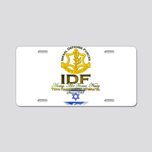 IDF Aluminum License Plate