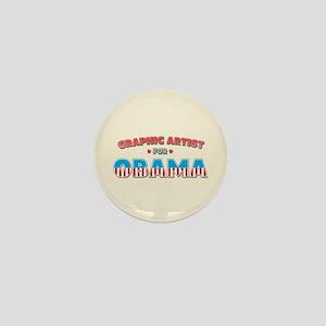 Graphic Artist For Obama Mini Button