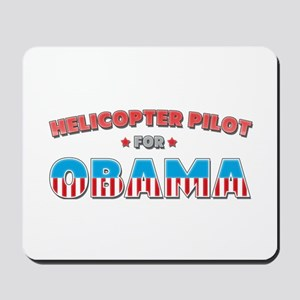 Helicopter Pilot For Obama Mousepad
