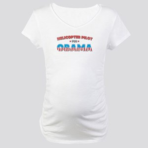 Helicopter Pilot For Obama Maternity T-Shirt
