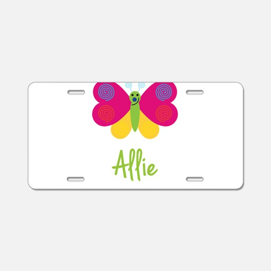 Allie The Butterfly Aluminum License Plate