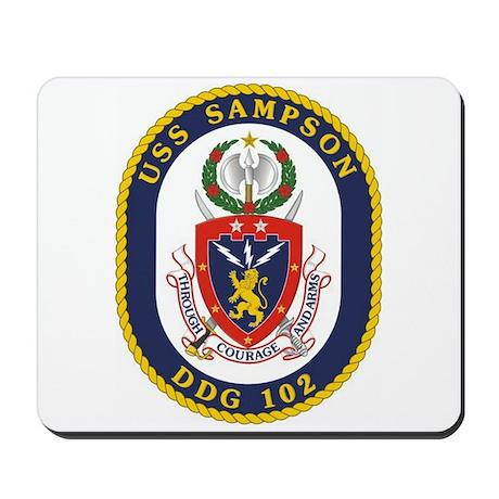 USS Sampson DDG 102 Mousepad