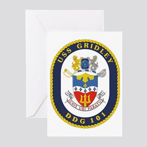 USS Gridley DDG 101 Greeting Cards (Pk of 10)