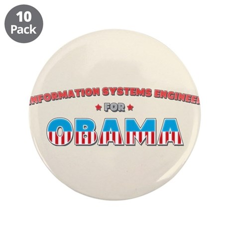 """Information Systems Engineer 3.5"""" Button (10 pack)"""