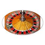 Vegas Casino Sticker (Oval)