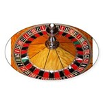 Vegas Casino Sticker (Oval 10 pk)