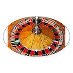 Vegas Casino Sticker (Oval 50 pk)