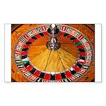 Vegas Casino Sticker (Rectangle 10 pk)