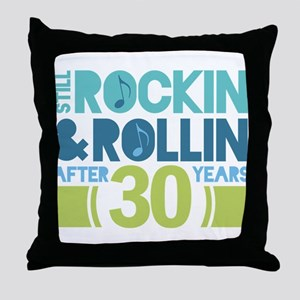 30th Anniversary Rock N Roll Throw Pillow