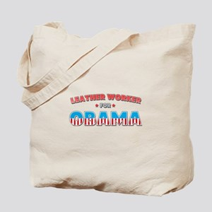 Leather Worker For Obama Tote Bag