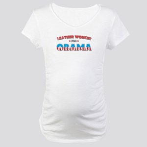 Leather Worker For Obama Maternity T-Shirt