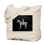 Tote Bag with horse racing print by Tom Conway