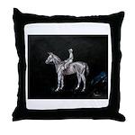 Throw Pillow classic race horse artwork