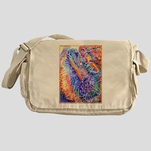 Dancer, colorful, art, Messenger Bag