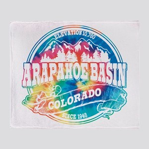 Arapahoe Basin Old Circle Throw Blanket