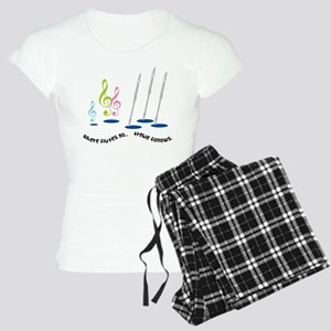 Flute Treble Quote Women's Light Pajamas