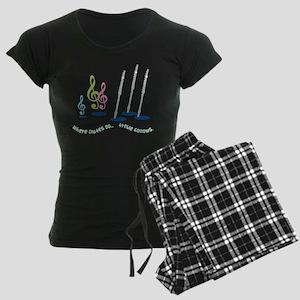 Flute Treble Quote Women's Dark Pajamas