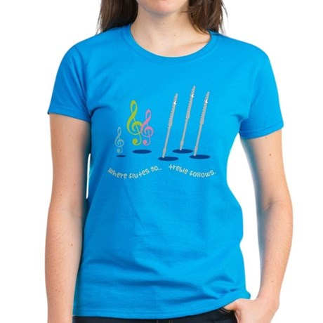 Flute Treble Quote Women's Dark T-Shirt