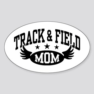 Track & Field Mom Sticker (Oval)