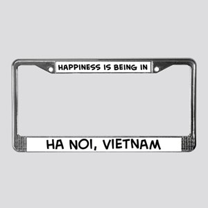 Happiness is Ha Noi License Plate Frame