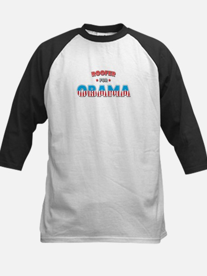 Roofer For Obama Kids Baseball Jersey