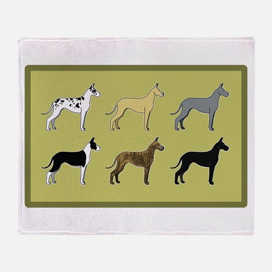 Colorful Danes Throw Blanket