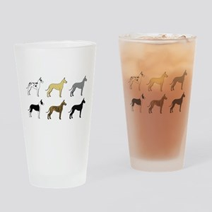 Colorful Danes Drinking Glass