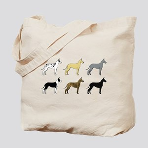 Colorful Danes Tote Bag
