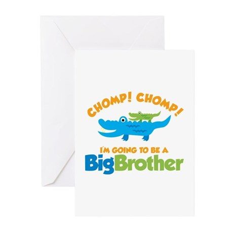 Alligator going to be a Big B Greeting Cards (Pk o