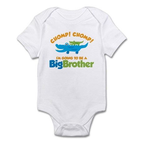 Alligator going to be a Big B Infant Bodysuit